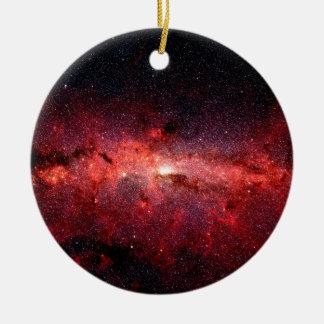 Milky Way Galaxy Space Photo Ceramic Ornament