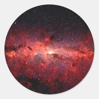 Milky Way Galaxy Space Photo Classic Round Sticker