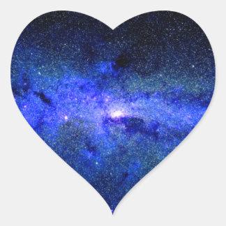 Milky Way Galaxy Space Photo Heart Sticker