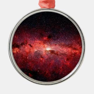 Milky Way Galaxy Space Photo Metal Ornament