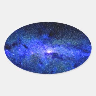 Milky Way Galaxy Space Photo Oval Sticker