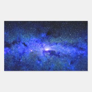 Milky Way Galaxy Space Photo Rectangular Sticker