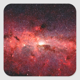 Milky Way Galaxy Space Photo Square Sticker