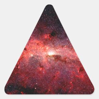 Milky Way Galaxy Space Photo Triangle Sticker