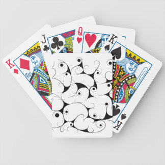 Milky way in black bicycle playing cards