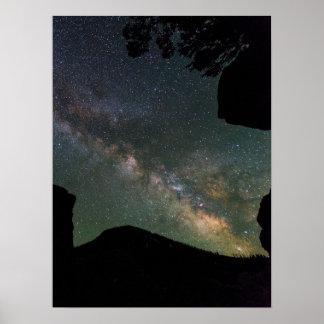 Milky Way Near Mammoth Hot Springs Poster