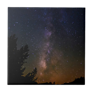 Milky Way night sky, California Ceramic Tile