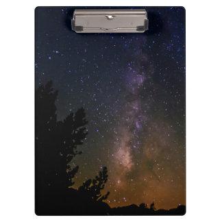 Milky Way night sky, California Clipboard