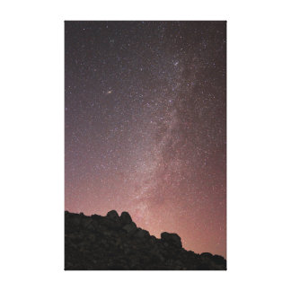 Milky Way over Agua Fria National Monument Canvas Print