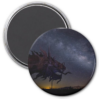 Milky Way over serpentine dragon Magnet