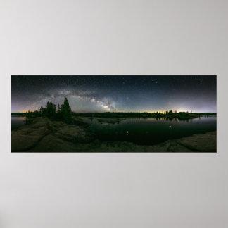 Milky Way Over Sierra Lake Poster