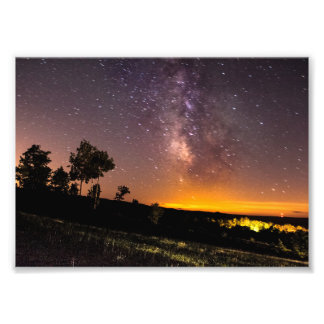 Milky Way seen from Silver Lake, Michigan Art Photo