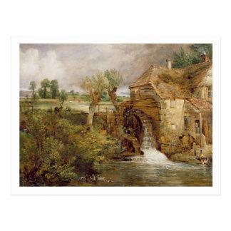 Mill at Gillingham, Dorset, 1825-26 (oil on canvas Postcard