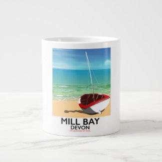 Mill Bay Devon Rail poster Large Coffee Mug