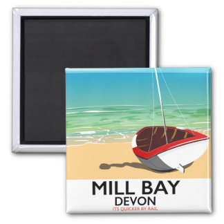 Mill Bay Devon Rail poster Magnet