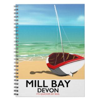 Mill Bay Devon Rail poster Notebook