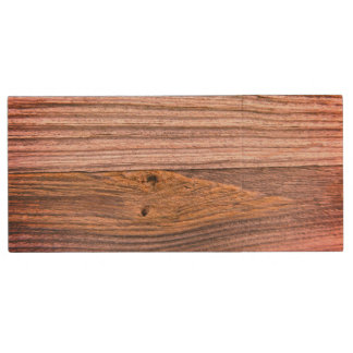 Mill Stream Bridge Wood Railing - Varnished Look Wood USB Flash Drive