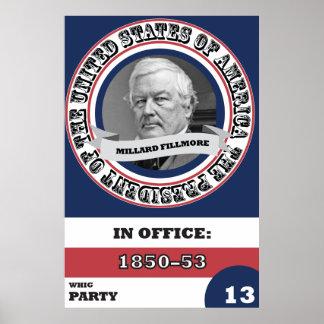 Millard Fillmore Presidential History Poster