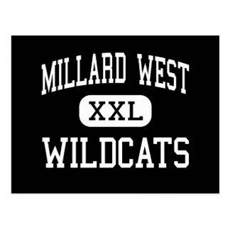 Millard West - Wildcats - High - Omaha Nebraska Postcard