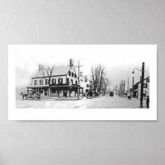 Millburn Ave & Main St in MIllburn NJ ca. 1908 Poster
