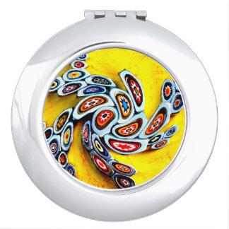 Millefiori Swirl Makeup Mirror
