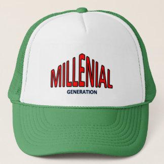 Millennial cap. Generation-Y Trucker Hat