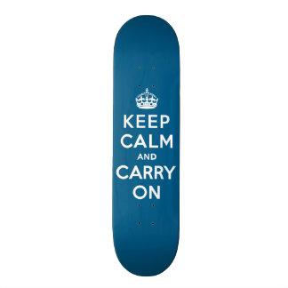 Millennium Blue Keep Calm and Carry On Skate Decks