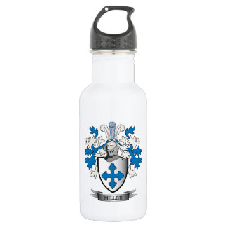 Miller Family Crest Coat of Arms 532 Ml Water Bottle