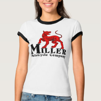 Miller Motocycle Ladies ringer T T-Shirt