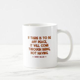 Miller on Peace Coffee Mug