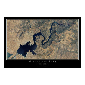 Millerton Lake California Satellite Poster