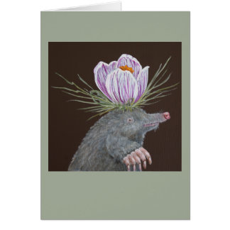 Millie the mole greeting card