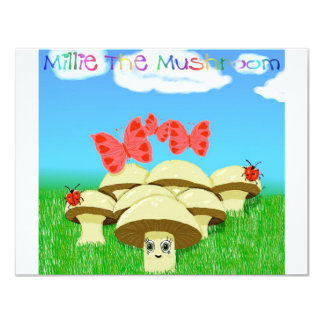 Millie The Mushroom 11 Cm X 14 Cm Invitation Card