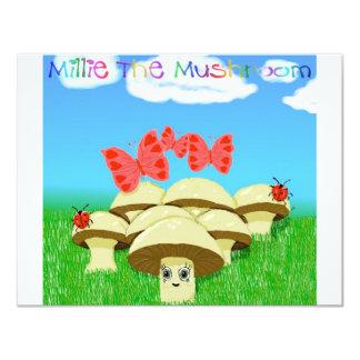 Millie The Mushroom Personalized Invitations