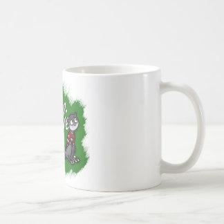 Millie the Olive Eyes Mug, Green Background Coffee Mug