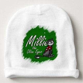 Millie the Olive Eyes, White Baby Hat 1 Baby Beanie