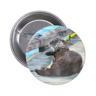 Millie the river otter Button