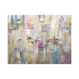 Millie's Orchid Garden - Abstract Painting Canvas Print