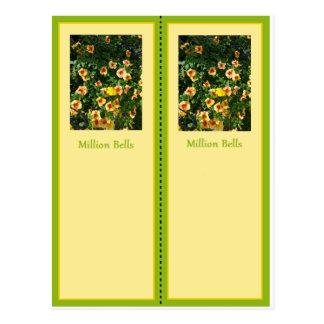 Million Bells Pretty Bookmark Postcard