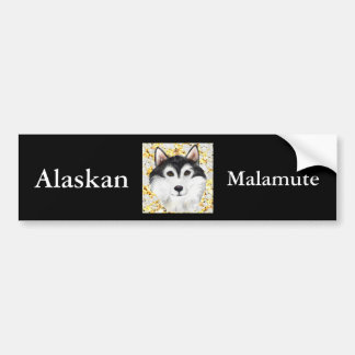 Million Dollar Alaskan Malamute Bumper Sticker