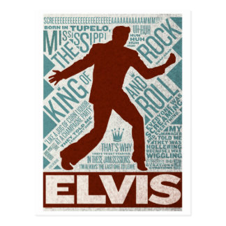 Million Dollar Quartet Elvis Type Postcard