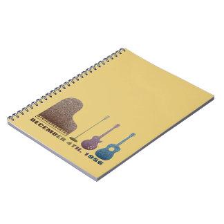 Million Dollar Quartet Instruments - Color Spiral Note Book