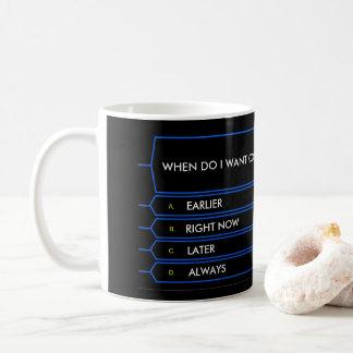 Million Dollar Question Funny Coffee Mug