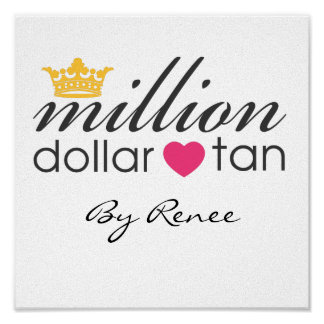 Million Dollar Tan Canvas Sign