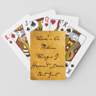 Million Things Playing Cards