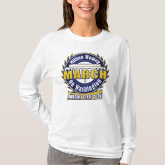 Million Women's March on Washington 2017 Blue Gold T-Shirt