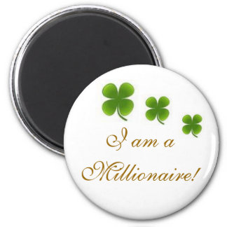 Millionaire 6 Cm Round Magnet