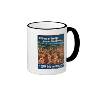 Millions of Troops are on the Move Ringer Mug