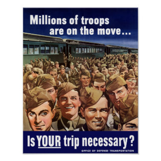 Millions of troops are on the move -- WW2 Posters