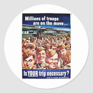 Millions Of Troops Round Stickers
